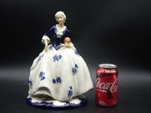 "EARLY ROYAL DUX ""LADY WITH DOG"" LARGE PORCELAIN FIGURINE #148 1938-1945"