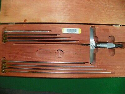 Starrett 0-9 Depth Micrometer W Interchangeable