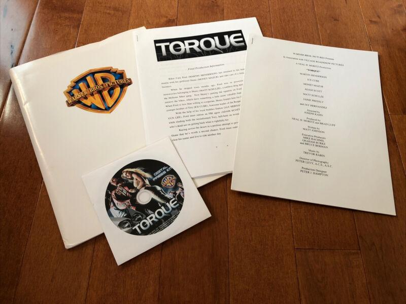 Torque - Warner Bros. Movie Press Kit + Photo CD- Ice Cube - Monet Mazur