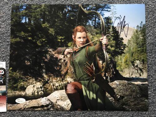 Hobbit Evangeline Lilly Autographed Signed 11x14 Photo JSA COA