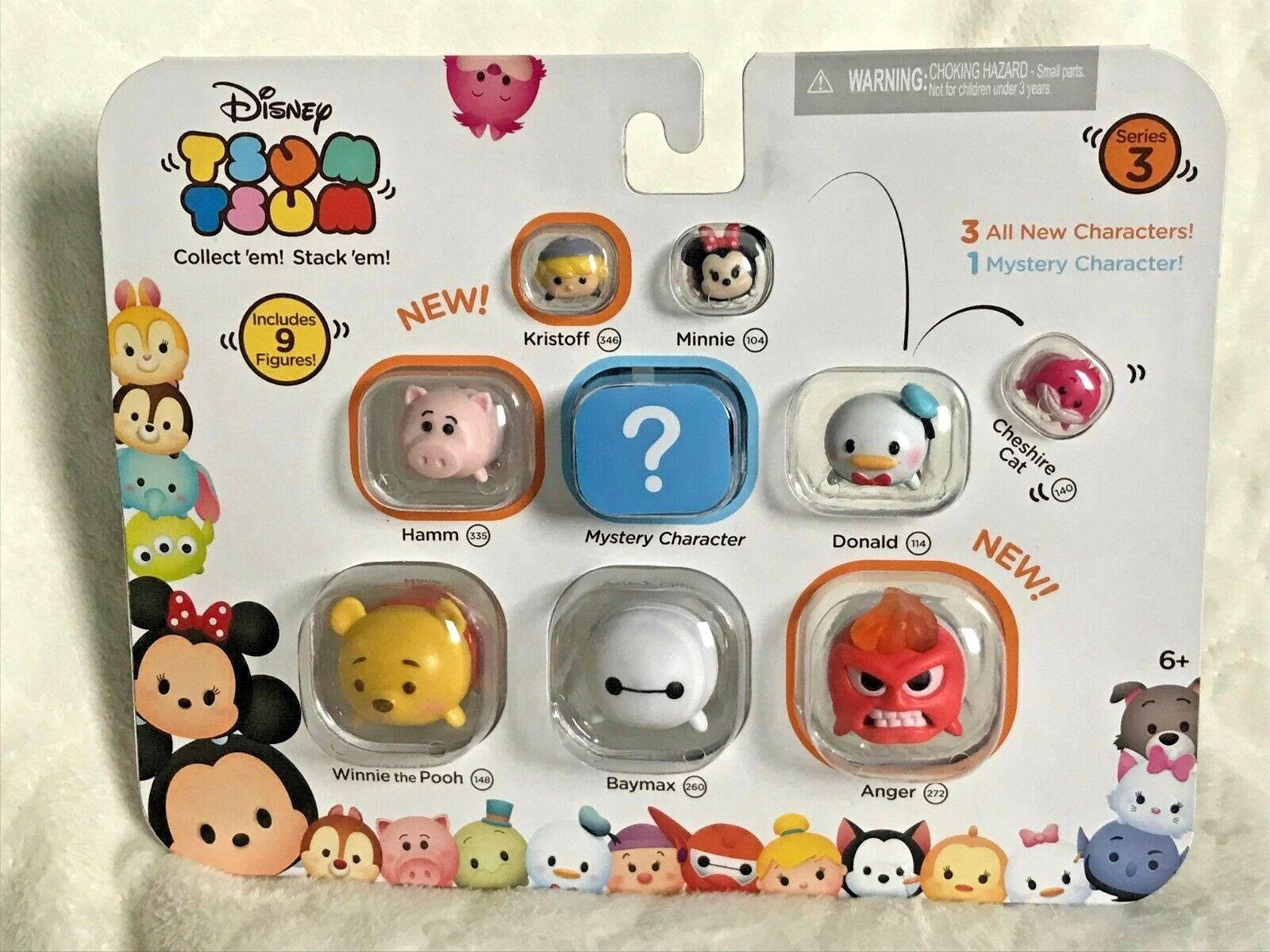 Disney Tsum Tsum 9 Pack Figures Series 3 Style #1