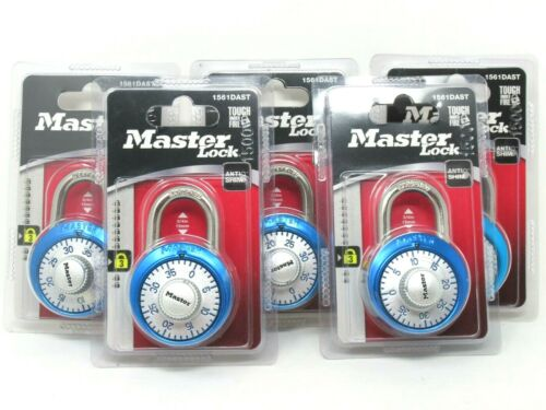 """(5) Master Lock Combination Dial Padlock with Aluminum Cover 1-7/8"""" 48 mm Wide"""