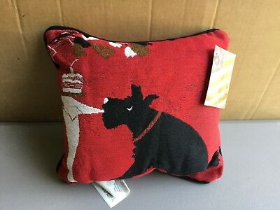 "USA NWT Dog Tricks approx. 12.5"" x 12.5"" Tapestry Throw Pillow #549 ()"