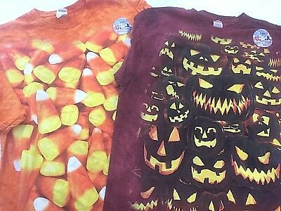 Men's Halloween T Shirts Novelty Holiday Party Tees - You Pick - Tie Dye Candy - Mens Halloween Tee Shirts