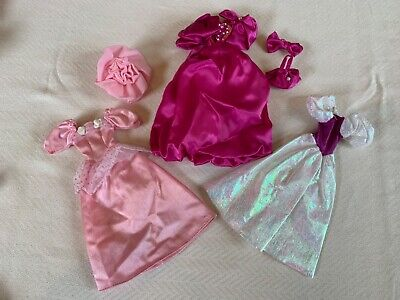 Vintage 80s/90s Barbie GOWNS Dresses Clothing  Lot of 3