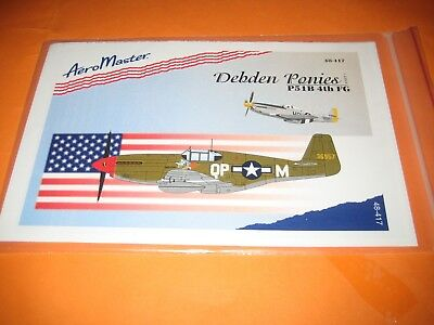 P-51 B MUSTANG 4th FG BY AEROMASTER DECALS AMD.48417