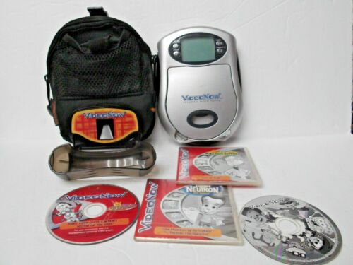 Vintage Hasbro Video Now CD Movie Player, With 4 Discs and Light Attachment