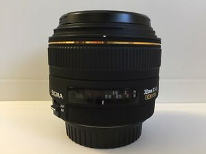 Sigma 30mm f1.4 EX DC HSM Lens for Canon