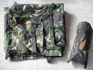 British Army DPM Basha Tarp Tent Shelter Stuff Sack included Used Grade 1