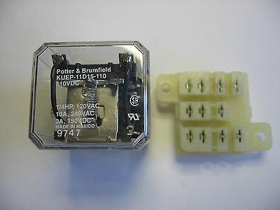 Potter Brumfield 8 Blade Kuep-11d15-110 Power Relay 110 Vdc Coil W Solder Base
