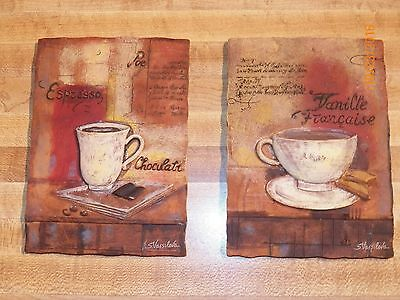 2 Decorative Wall Plaques Coffee decorative collectible hanger fancy personal