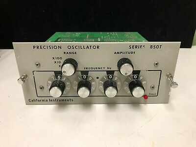 California Instruments 850t Precision Oscillator Module 45 Hz To 10 Khz