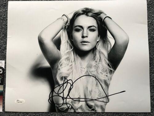 Sexy Lindsay Lohan Autographed Signed 11x14 Photo JSA COA