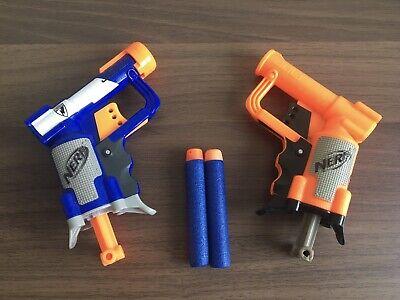 Nerf N-Strike Elite Blue 2 x Jolt Shot Blaster gun! with bullets Darts Bundle