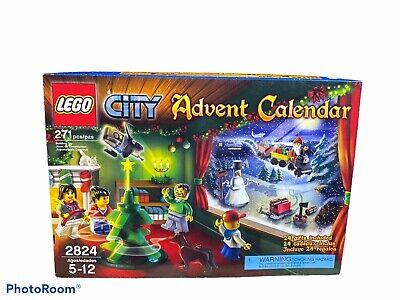 New Open Box LEGO City Advent Calendar 2824 Christmas Rare Read Description