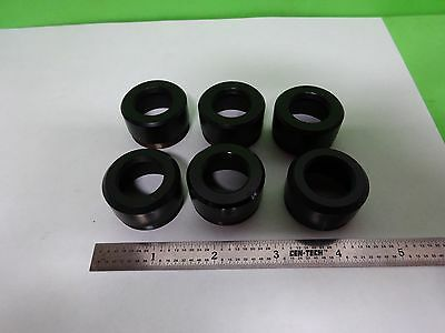 Microscope Part Lot Brass Metal End Piece Optics Protection Lens As Is Biny7-12