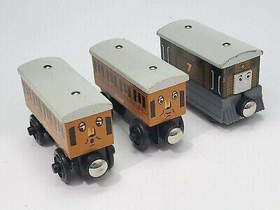 Thomas the Train & Friends ANNIE CLARABEL TOBY Engines Wooden Railway Tank