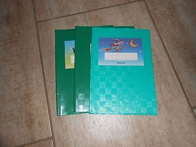 Heftumschläge, grün, braun und gelb, DIN A5