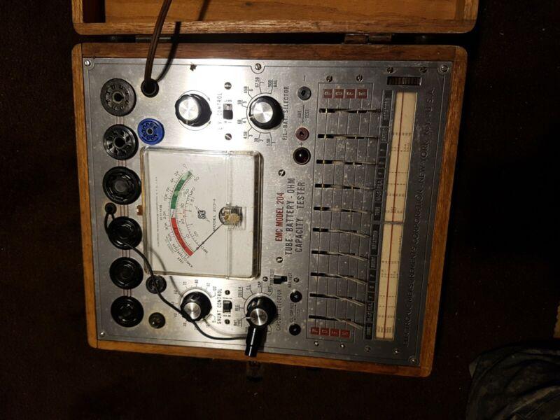 Vintage EMC model204.tube-battery-ohm capacity tester.part only.