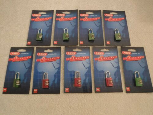 LOT OF 9 ABUS 145/20 COMBINATION PADLOCKS 5JKT3 (BRAND NEW~~SEALED)