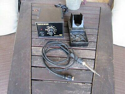 Hakko 936 Solder Station W Hakko 907 Soldering Iron W Rest Clean Works Great.