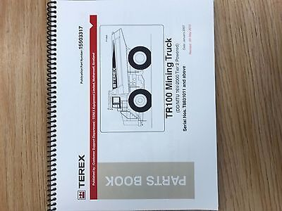 Terex Tr100 Mining Truck Parts Manual Book Sn T8831011 And Above
