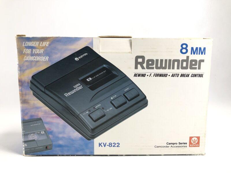 KINYO KV-822 2-Way 8mm Rewinder Fast Forward Auto Break Control-New In Box NOS