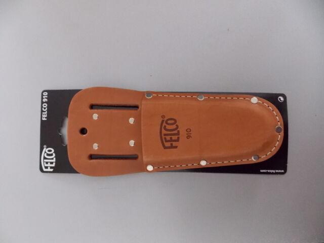 Felco 910 Köcher Etui aus echtem Leder mit Gürtelclip für Felco Scheren