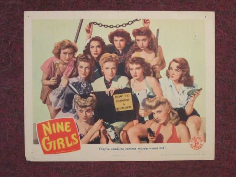 Nine Girls - Original Lobby Card 1944