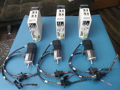 Lot Of 3 Mitsubishi Servo Motor Hc-kfs13bg1k Servo Drive Mr-j2s-10a Mach3 Cnc