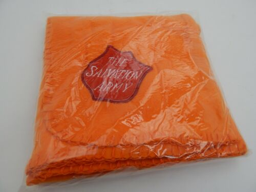 "Salvation Army Throw Blanket Embroidered Logo 30"" x 40"" Orange Red Logo"