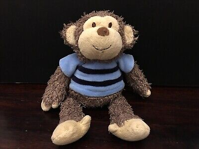 Carters Brown Plush Shaggy Monkey Baby Toy Stuffed Animal Lovey 41411