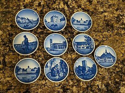 Lot of 10 Royal Copenhagen Denmark Mini Plates