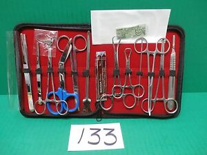 19-Pcs Student Suture Surgical/Minor Surgery kit, Military Style,First Aid Kit