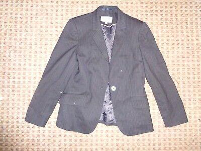 NEXT-LADIES jacket size 12 SMART FORMAL WEDDING WORK TAILORED STRIP BUSINESS BLK