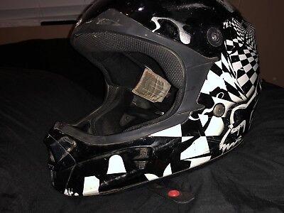 Fox Racing V Pilot MX Mens DOT Dirt Bike Motocross Helmet Used Kids