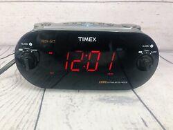 Timex XBBU Redi-Set Dual Alarm Clock Radio AM/FM T715 Battery Backup TESTED (u