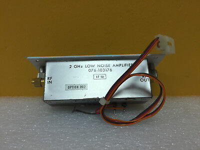 Harris Sd-102390 Opt 002 Rf Preamp 076-103176 2 Ghz Low Noise Amplifier. Tested