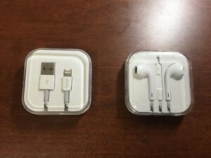 Charger cable and earphone for iphone