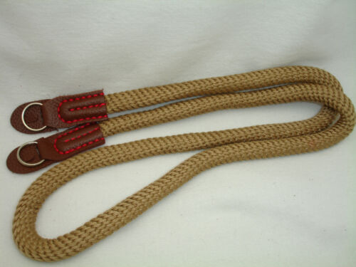 ROPE camera neck strap , with lug rings , CAMEL / BROWN, Breathable, soft cotton