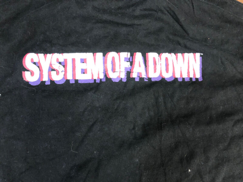 Vintage T Shirt - System Of A Down Local Crew Black Size XL Band Concert