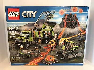 LEGO CITY 60124 Volcano Exploration Base NEW Sealed Box