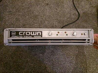 Crown Macrotech 1200 Power Amplifier 980W RMS for sale  Shipping to Nigeria