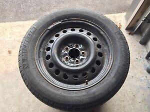 Michelin 225/55-R17 snow tires on rims Peterborough Peterborough Area image 1