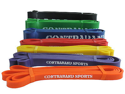 Contraband Sports 7419 41in Resistance Bands, Powerlifting Bands, Pullup bands