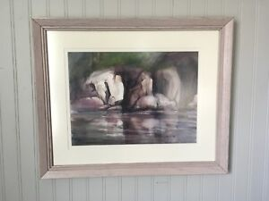 Original watercolour painting  'Killarney Granite' by Gunta