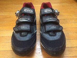 Cycling shoes and pedals