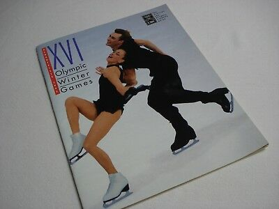 VINTAGE 1992 XVI OLYMPIC WINTER GAMES ALBERTVILLE OFFICIAL CBS VIEWERS GUIDE