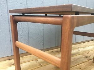 Mid century industrial side table