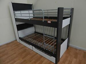 White & grey single bunk bed SYDNEY DELIVERY & ASSEMBLY Windsor Hawkesbury Area Preview